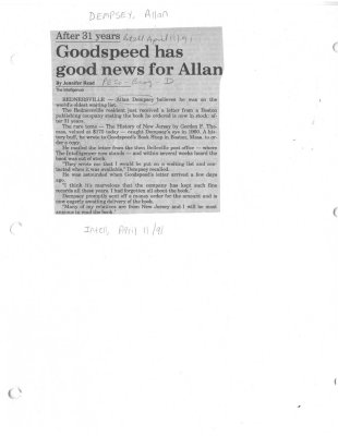 Goodspeed has good news for Allan