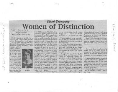 Women of Distinction: Ethel Dempsey