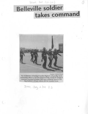 Belleville soldier takes command