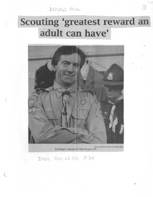 Scouting 'greatest reward an adult can have'