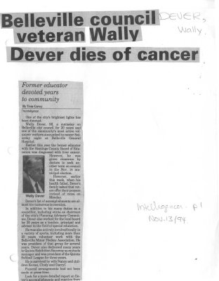 Dever, Wally (Died)