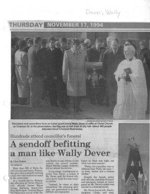 A sendoff befitting a man like Wally Dever