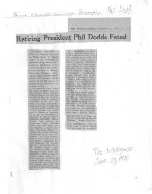 Retiring President Phil Dodds Feted