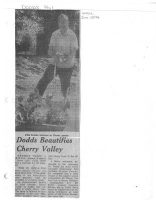Dodds Beautifies Cherry Valley