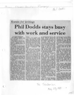 Phil Dodds stays busy with work and service