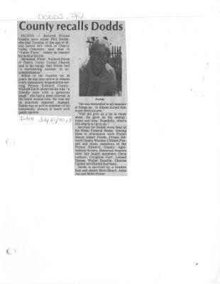 County recalls Dodds