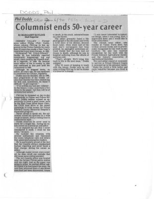 Columnist ends 50-year career