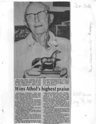 Wins Athol's highest praise