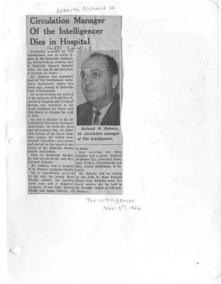 Doherty, Richard Henry (Died)