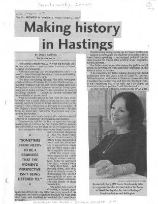 Making history in Hastings