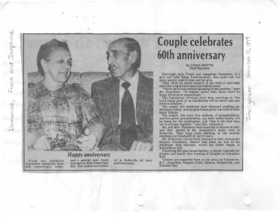 Couple celebrates 60th anniversary