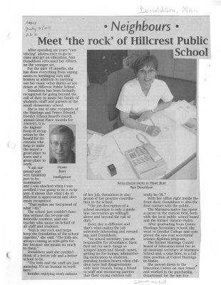 Neighbours: Meet 'the rock' of Hillcrest Public School