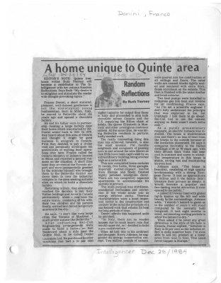 A home unique to Quinte area