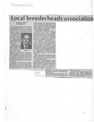 Local breeder heads association