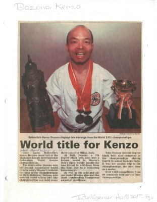 World title for Kenzo