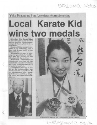 Local Karate Kid wins two medals