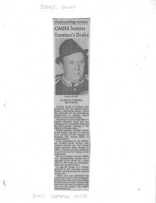OMHA honors Trenton's Drake