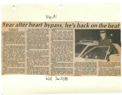 Year after heart bypass, he's back on the beat