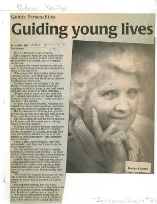 Guiding young lives: Marilyn Kirkman