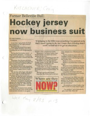 Hockey jersey now business suit