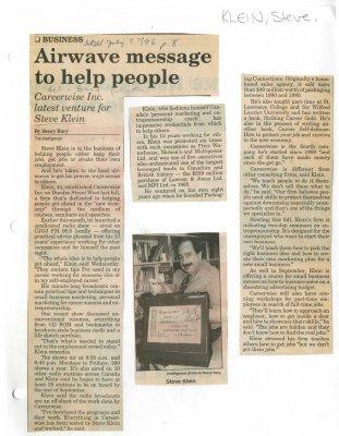Airwave message to help people