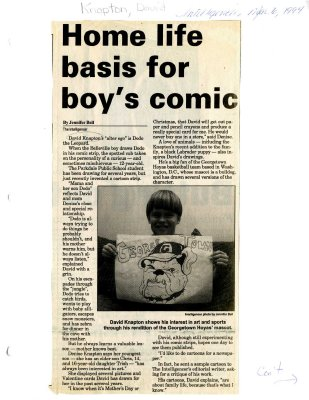 Home life basis for boy's comic