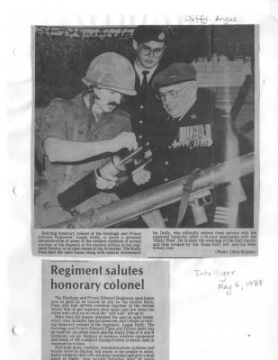 Regiment salutes honorary colonel