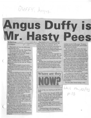Angus Duffy is Mr. Hasty Pees
