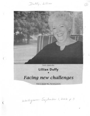 Lillian Duffy: Facing new challenges