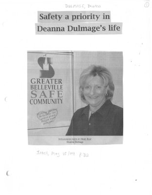 Safety a priority in Deanna Dulmage's life