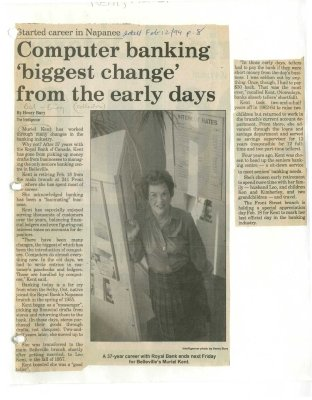 Computer banking biggest change from the early days
