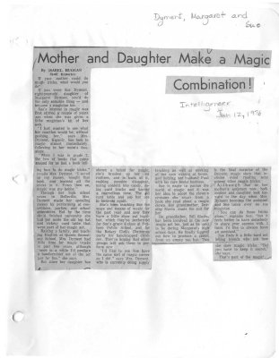 Mother and Daughter Make a Magic Combination!