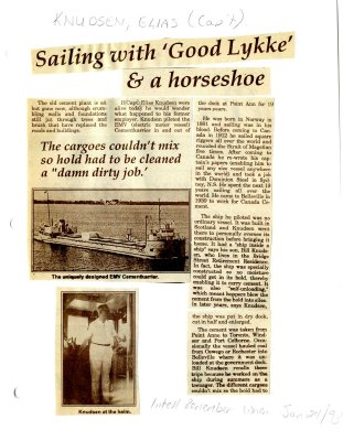 """Remember when: Sailing with """"Good Lykke"""" & a horseshoe"""
