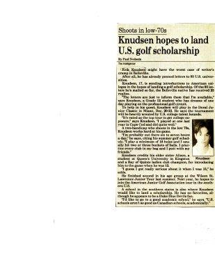 Knudsen hopes to land U.S. golf scholarship