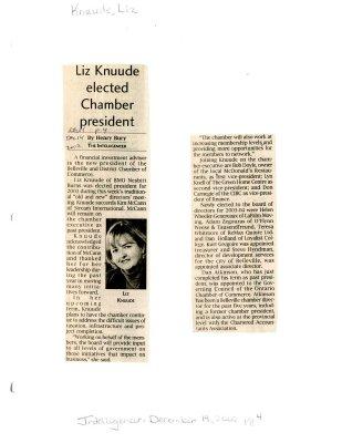 Liz Knuude elected Chamber president