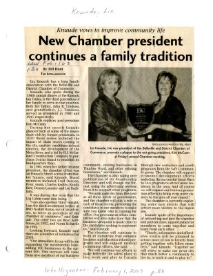 New Chamber president continues a family tradition