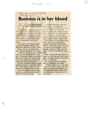 Business is in her blood