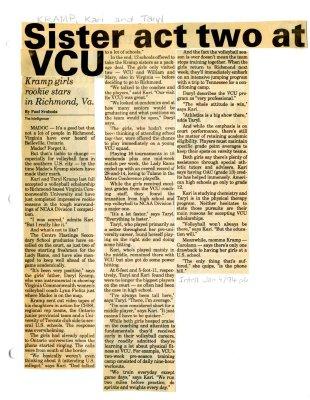 Sister act two at VCU