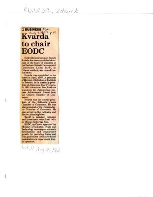 Kvarda to chair EODC