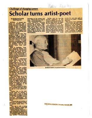 Scholar turns artist-poet