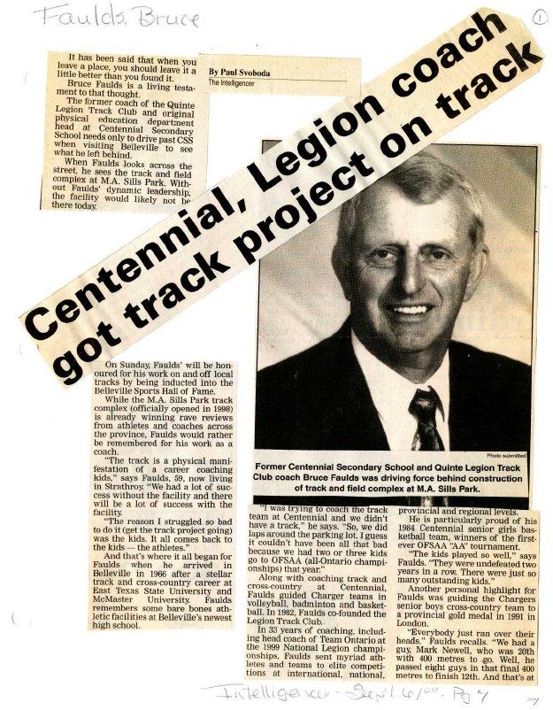 Centennial, Legion coach got track project on track