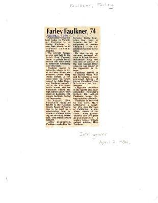 Farley Faulkner, 74
