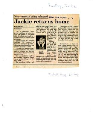 Jackie returns home