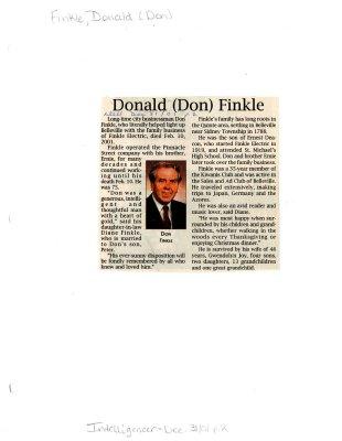 Donald (Don) Finkle (obituary)