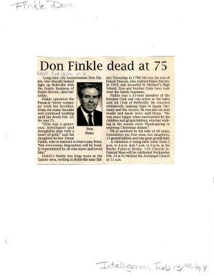 Don Finkle dead at 75