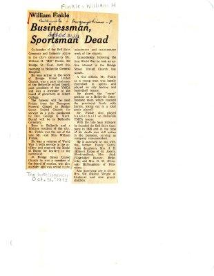 William Finkle: Businessman, Sportsman Dead