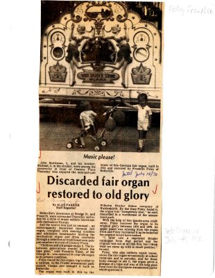 Discarded fair organ restored to old glory