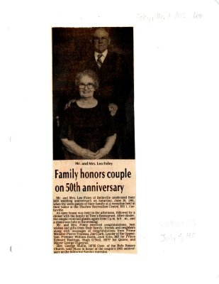Family honors couple on 50th anniversary