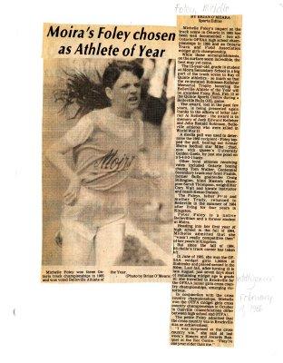 Moira's Foley chosen as Athlete of Year
