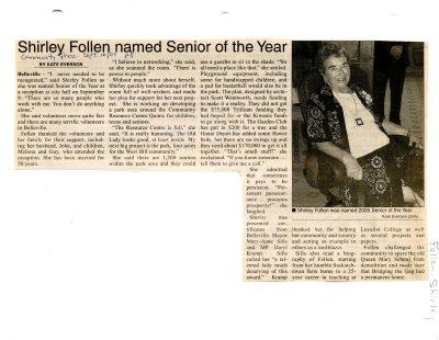 Shirley Follen named Senior of the Year